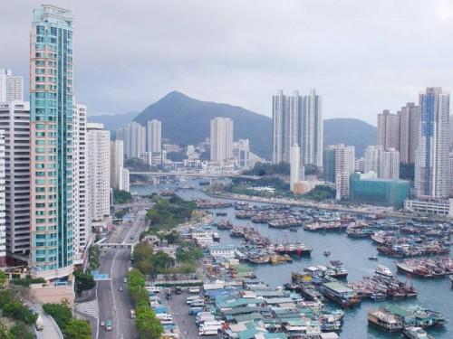 عکس بندر آبردین در هنگکنگ