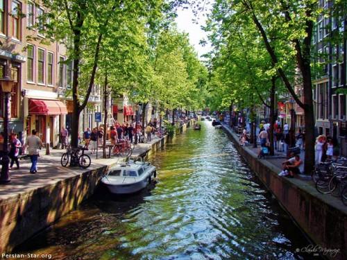 عکس شهر آمستردام در هلند