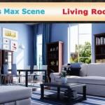 دانلود نمونه طراحی های 3 بعدی داخل منزل و پذیرایی 3ds Max interior – Living room