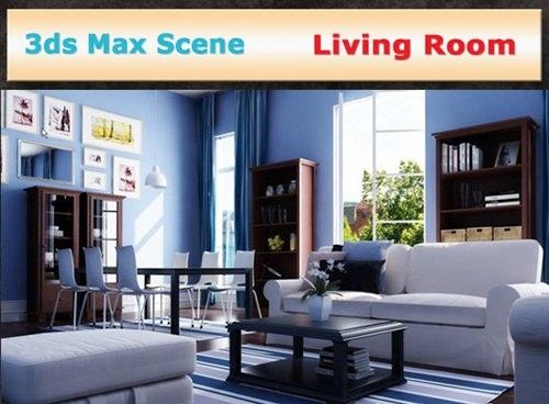 دانلود نمونه طراحی های 3 بعدی داخل منزل و پذیرایی 3ds Max interior - Living room