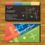 دانلود کارت ویزیت لایه باز با طرح گوگل پلاس Business Cards – Google Plus PSD