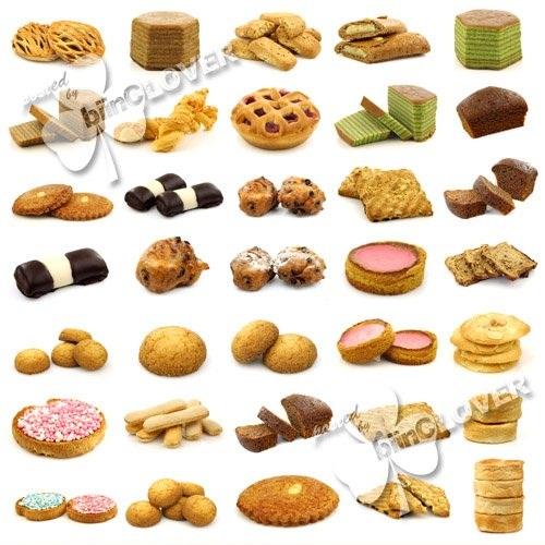 دانلود تصاویر استوک انواع شیرینی و نان Collection of cookies cakes and bread Stock Photos