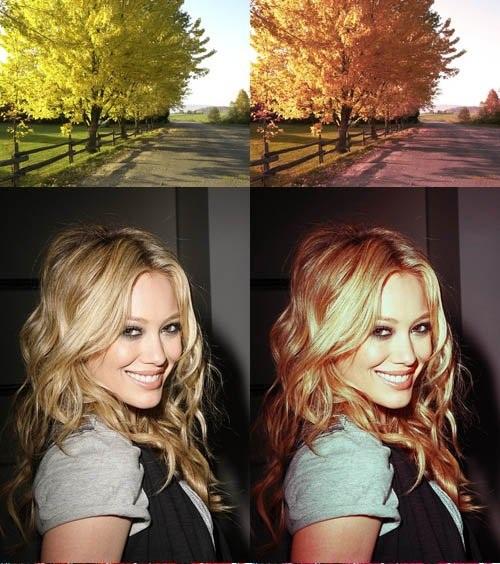 دانلود مجموعه اکشن های تغییر رنگ عکس در فتوشاپ Cool Photoshop Action