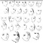 دانلود براش زیبای چهره و صورت Faces Brushes set for Photoshop