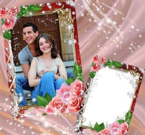 دانلود قاب عکس و فریم عکس عاشقانه Frame - Passionate love