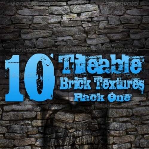 دانلود 10 بافت یا تکسچر آجری لایه باز GraphicRiver 10 Tileable Brick Textures