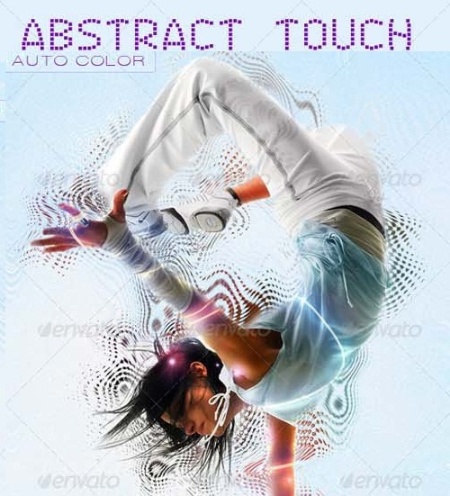دانلود اکشن بسیار زیبای انتزائی فتوشاپ با نام GraphicRiver Abstract Touch Photoshop Action