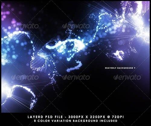 دانلود تصاویر بکگراند لایه باز طراحی برای فتوشاپ GraphicRiver   Heavenly Background PSD
