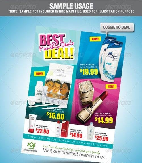 دانلود طرح لایه باز پوستر تبلیغاتی GraphicRiver Super Deal Promotion Flyer PSD Template
