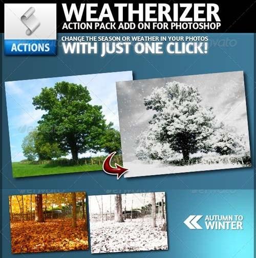 دانلود اکشن فوق العاده زیبای تغییر فصل و شرایط آب و هوایی در فتوشاپ