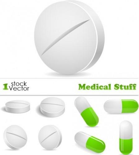 دانلود تصاویر وکتور دارو Medical Stuff Vector