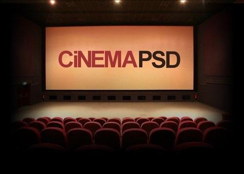 دانلود طرح لایه باز سینما PSD Cinema File