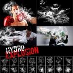 دانلود براش انفجار و پخش شدن آب Hydro Explosion Photoshop Brushes