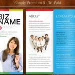 دانلود 5 طرح لایه باز آماده بروشور 3 لت زیبا Simply Premium 5 – Tri-Fold Brochure