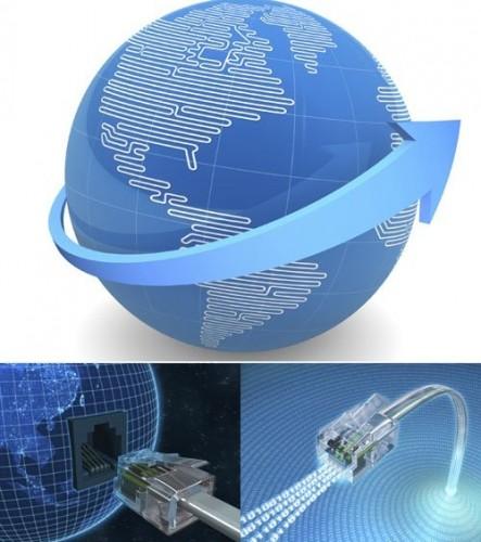 دانلود تصاویر استوک با موضوع جهان و ارتباط اینترنتی Stock Photo - Globe And Communications Internet Concepts