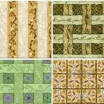 دانلود تکسچر و بافت های چهارخانه و راه راه گلدار Strips of paper – seamless textures
