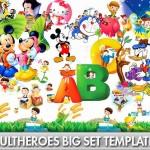 دانلود طرح لایه باز قهرمانان و شخصیت های کارتونی Templates 18 PSD Cartoon Heroes