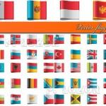 دانلود وکتور پرچم کشورهای جهان Vector flags
