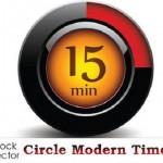 دانلود وکتور تایمر و زمانسنج دایره ای Vectors – Circle Modern Timers