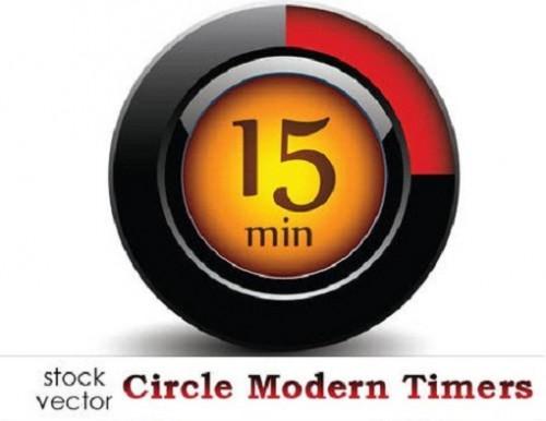دانلود وکتور تایمر و زمانسنج دایره ای Vectors - Circle Modern Timers