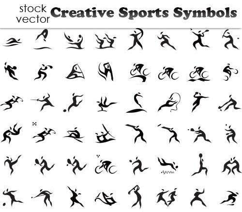 وکتور لوگو ورزشی | آبی گرافیک | دانلود آموزش ،گرافیک و عکس... دانلود TIFF, دانلود تصاویر وکتور, دانلود رایگان وکتور, دانلود وکتور, دانلود وکتور سمبل های خلاقانه و زیبای برای تمامی ورزش ها Vectors - Creative ...