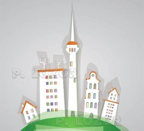 دانلود تصاویر وکتور پس زمینه شهر City background vector
