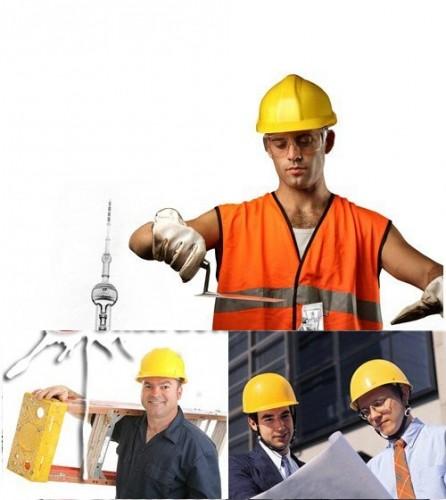 دانلود عکس استوک از کارکنان و مهندسان ساختمان ساز construction workers