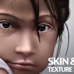دانلود براش پوست و مو برای فتوشاپ Skin and hair texture brushes