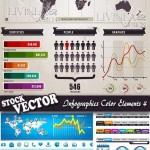 دانلود وکتور اینفوگرافیک هنر نقشه و دیاگرام Infographic Vector