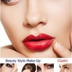 دانلود تصاویر استوک و کلیپ آرت مدل های آرایش صورت Beauty Style Make-Up