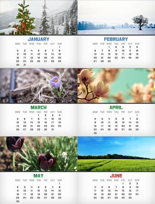 دانلود سری جدید تقویم های سال 2012 میلادی Calendar on 2012 Year PSD