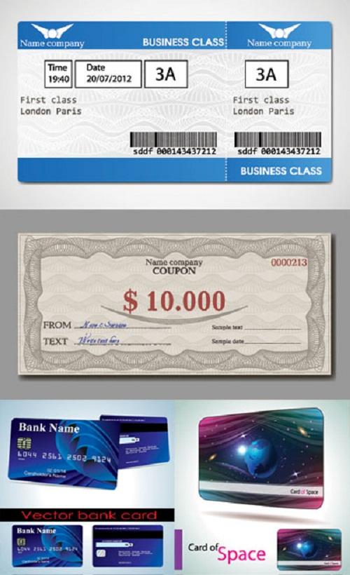 دانلود طرح وکتور کوپون و کارت اعتباری Coupon and Credit Card