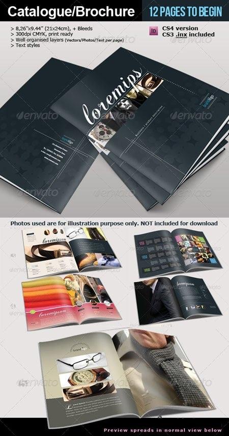 طرح آماده بروشور و کاتالوگ 12 صفحه ای برای ایندیزاین GraphicRiver - Brochure & Catalogue INDD