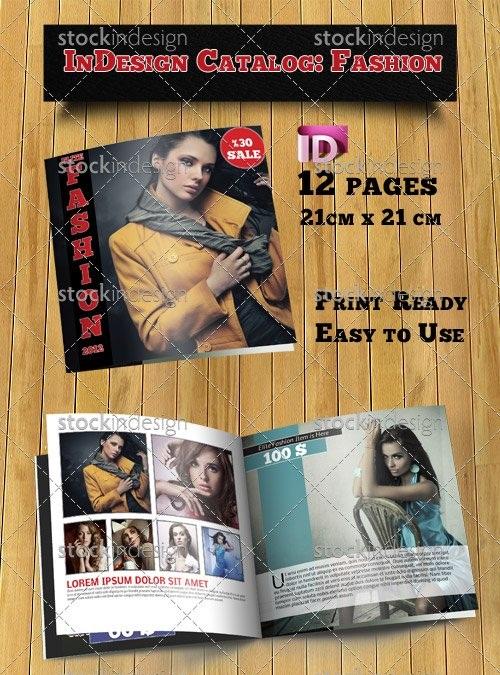 دانلود کاتالوگ مد و فشن برای ایندیزاین InDesign Catalog Template Fashion StockInDesign