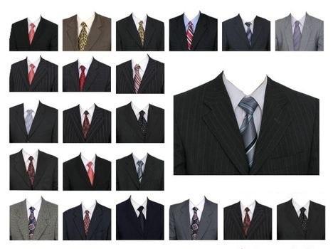 دانلود طرح های لایه باز لباس رسمی مردانه Man Costume Template Bundle PSD