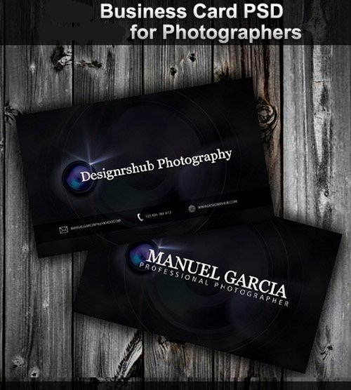 دانلود طرح لایه باز کارت ویزیت عکاسان New Business Card Psd for Photographer