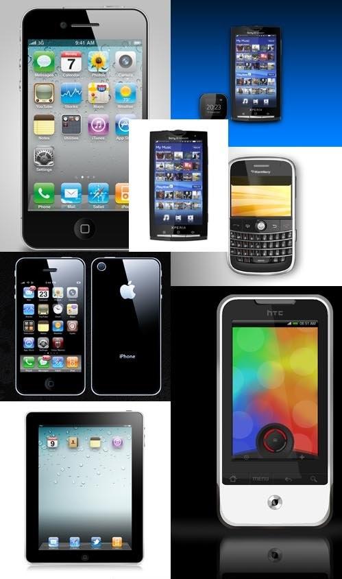 دانلود طرح لایه باز گوشی های موبایل جدید PSD for Photoshop - Smart mobiles