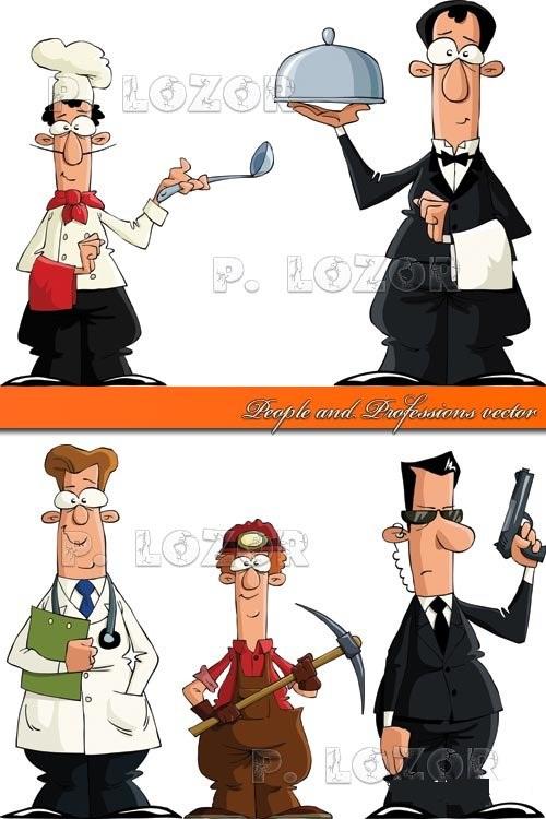 دانلود تصاویر وکتور از مردم و حرفه های مختلف آن ها People and Professions vector
