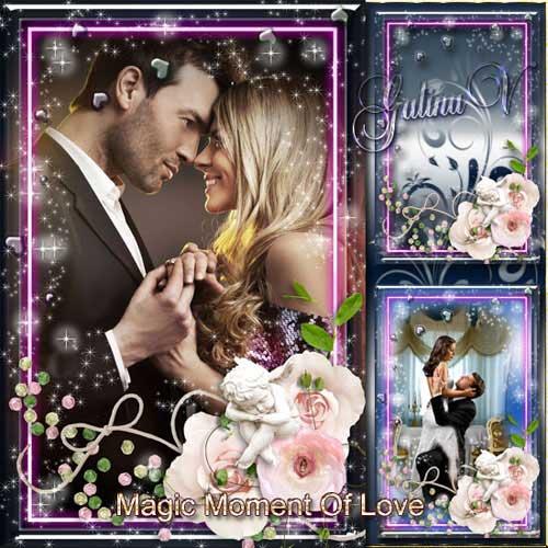 دانلود قاب عکس زیبای ولنتاین با نام جادوی عشق Romantic Valentine's Frame - Magic Moment Of Love