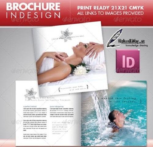 دانلود بروشور موسسه های زیبایی و آرایشی Beauty Center Square Brochure - GraphicRiver