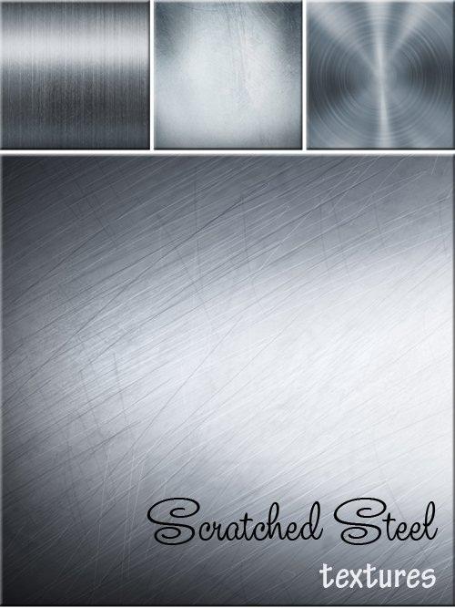 دانلود تکسچر یا بافت های فلزی (فولاد) Scratched Steel - textures