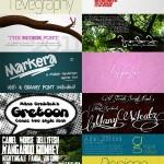 دانلود مجموعه ای زیبا از فونت های انگلیسی مخصوی طراحی  Signature Fonts