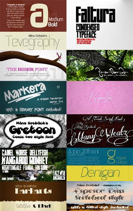 دانلود مجموعه ای زبا از فونت های انگلیسی مخصوی طراحی Signature Fonts