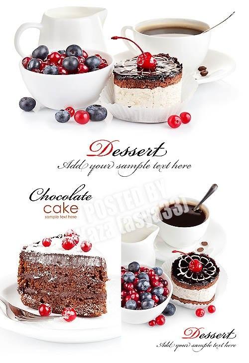 دانلود تصاویر استوک دسر شیرینی Sweet dessert Stock Photo