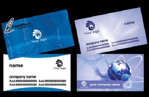 دانلود طرح لایه باز 2 کارت ویزیت با موضوع تکنولوژی technology company business card PSD template