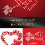 دانلود وکتور های بکگراند ولنتاین Valentine Day background