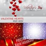 دانلود کارت و وکتورهای پس زمینه ولنتاین Valentine cards & backgrounds