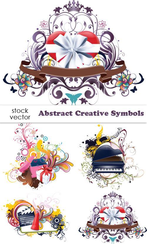 دانلود وکتور سمبل های انتزائی خلاقانه Vectors - Abstract Creative Symbols