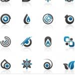 دانلود لوگو ها و آرم های آبی زیبا Vectors – Creative Blue Logo