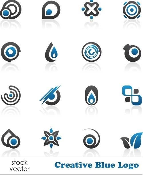 دانلود لوگو ها و آرم های آبی زیبا Vectors - Creative Blue Logo